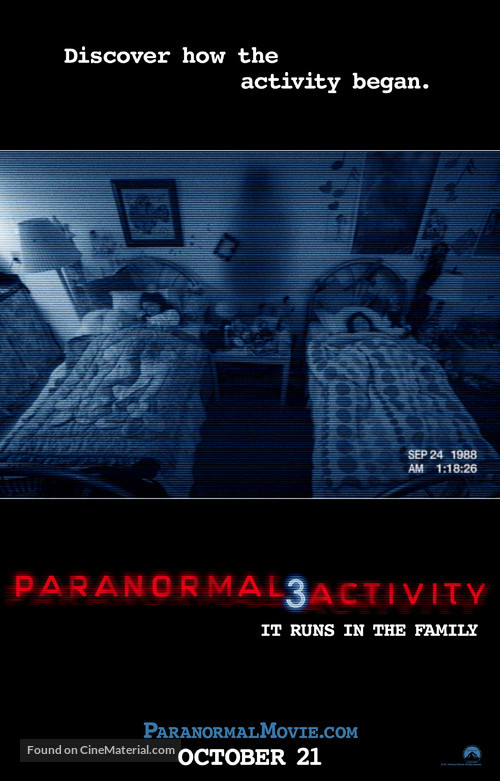 Paranormal Activity 3 - Movie Poster