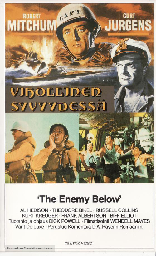 The Enemy Below - Finnish Movie Cover