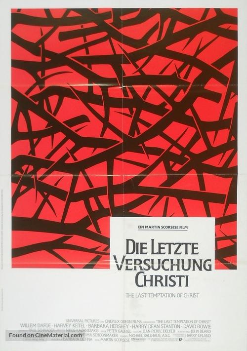 The Last Temptation of Christ - German Movie Poster