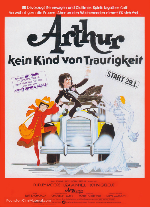 Arthur - German Movie Poster