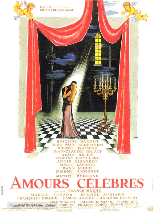 Amours célèbres - French Movie Poster