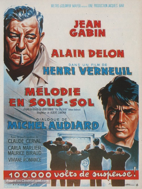 Mélodie en sous-sol - French Movie Poster