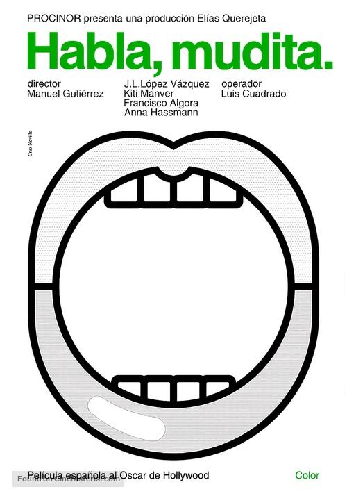Habla, mudita - Spanish Movie Poster