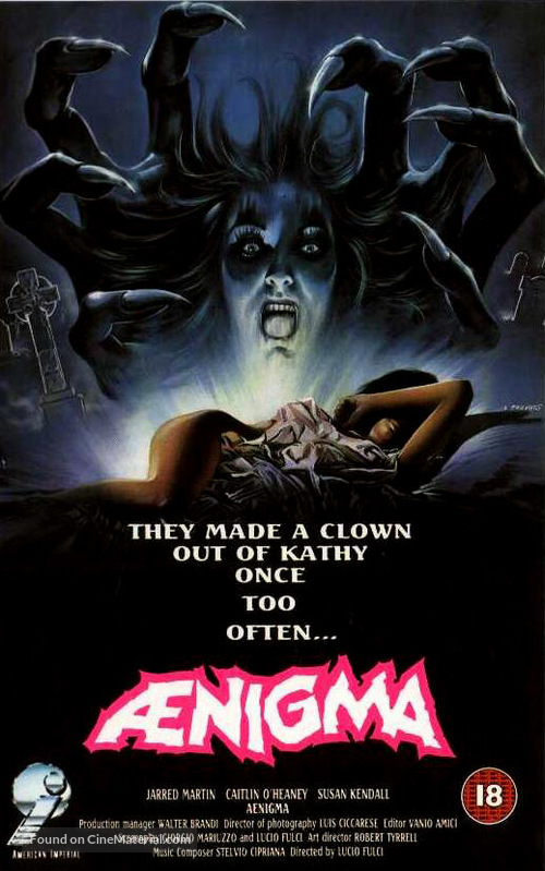 Aenigma - British VHS movie cover