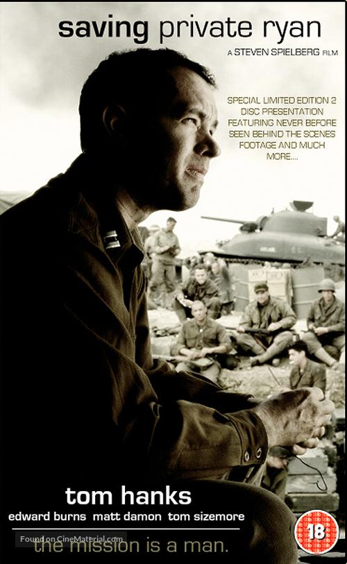 Saving Private Ryan - British VHS movie cover