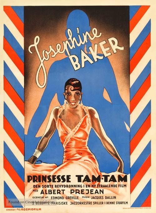 Princesse Tam Tam - Danish Movie Poster