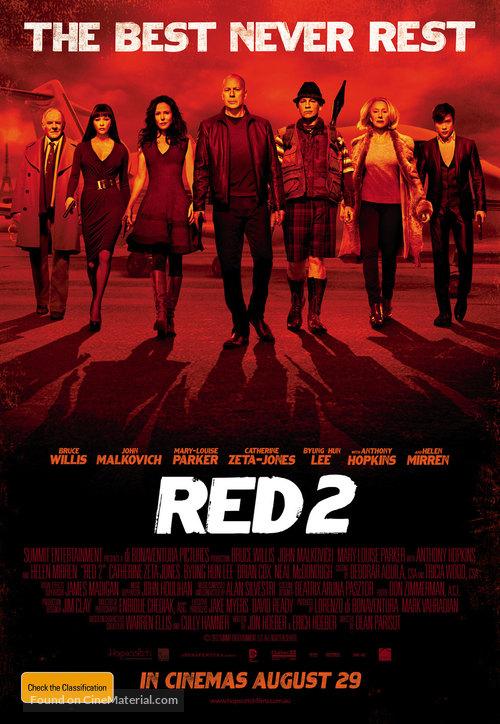 RED 2 - Australian Movie Poster