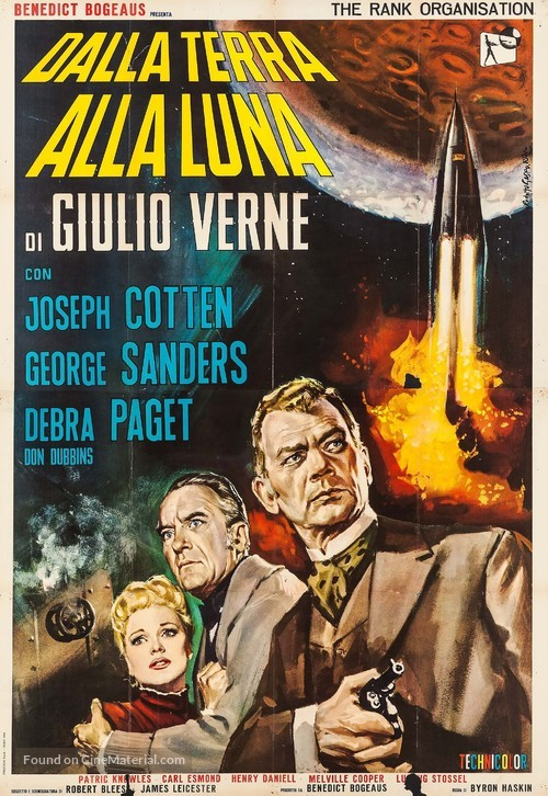 From the Earth to the Moon - Italian Movie Poster