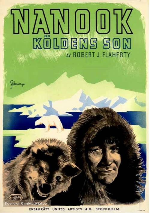 Nanook of the North - Swedish Movie Poster