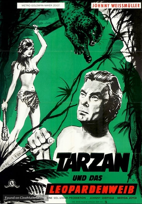 Tarzan and the Leopard Woman - German Movie Poster