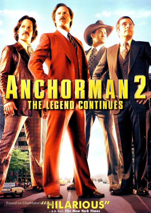 Anchorman 2 The Legend Continues 2013 Dvd Movie Cover