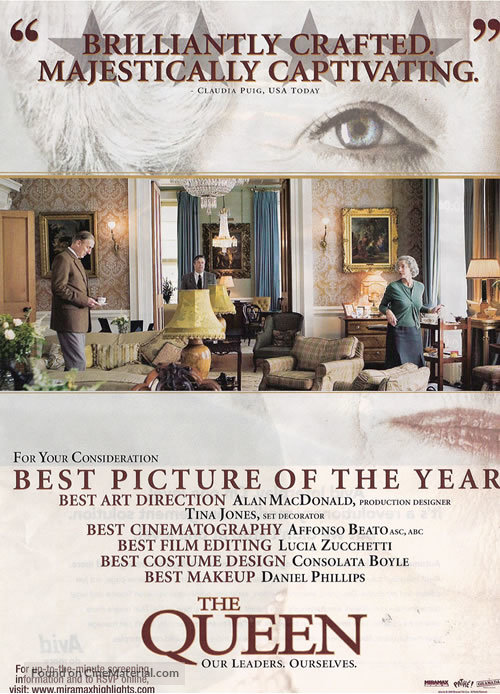 The Queen - For your consideration movie poster