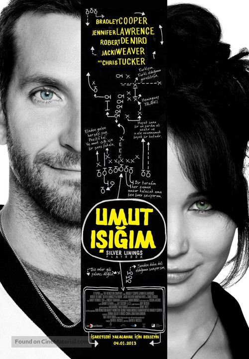 Silver Linings Playbook - Turkish Movie Poster