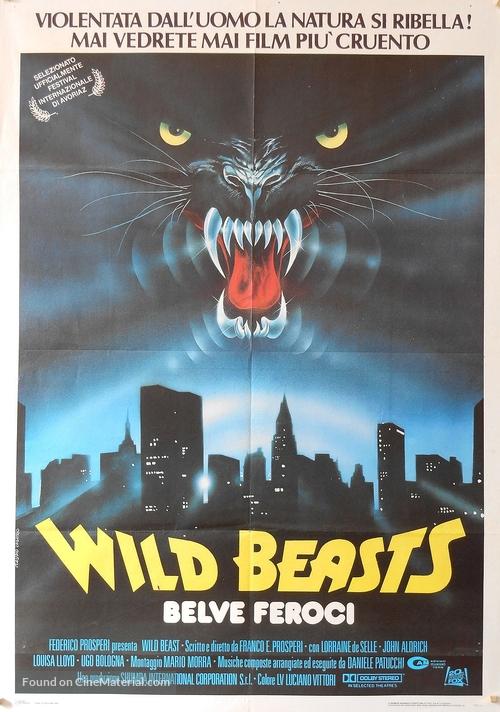 Wild beasts - Belve feroci - Italian Movie Poster