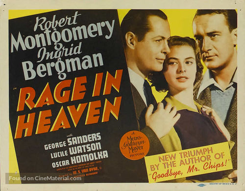 Rage in Heaven - Movie Poster