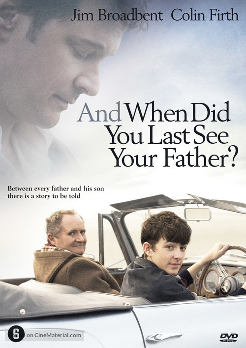 And When Did You Last See Your Father? - Dutch DVD movie cover