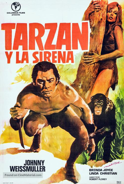 Tarzan and the Mermaids - Spanish Movie Poster