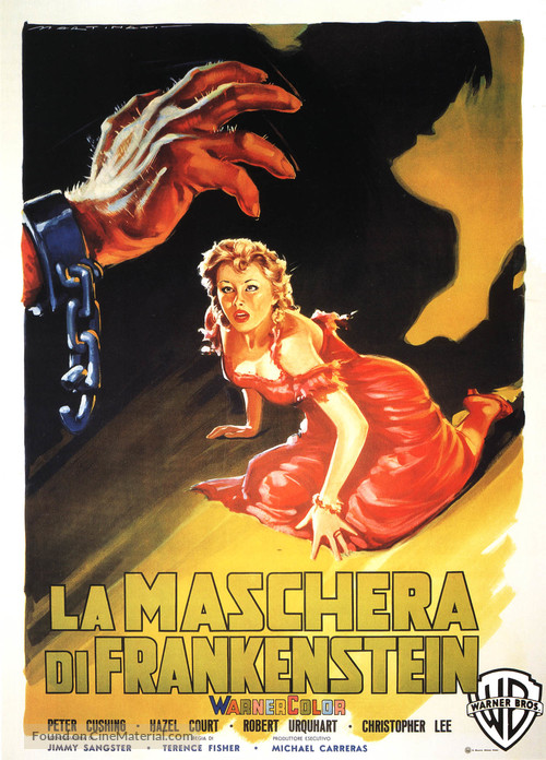 The Curse of Frankenstein - Italian Movie Poster