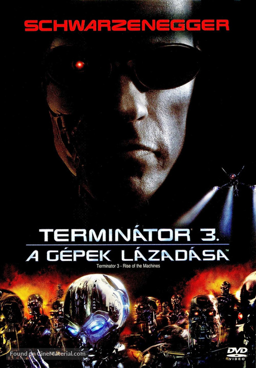 Terminator 3: Rise of the Machines - Hungarian DVD movie cover
