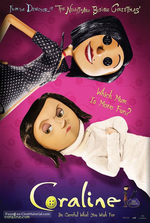 Coraline 2009 Movie Poster