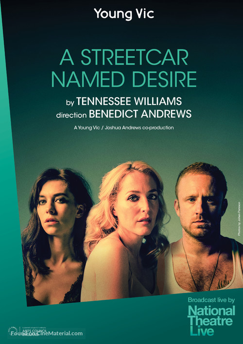 National Theatre Live: A Streetcar Named Desire - British Movie Poster