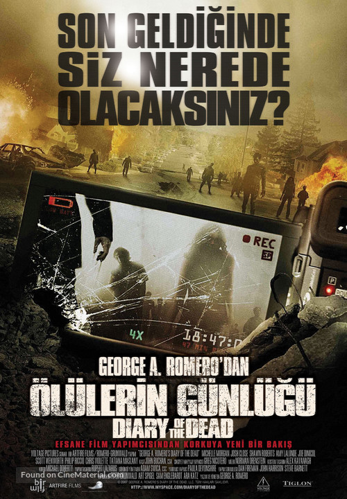 Diary of the Dead - Turkish Movie Poster