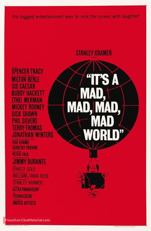 It's a Mad Mad Mad Mad World - Movie Poster