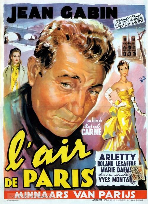 Air de Paris, L' - Belgian Movie Poster