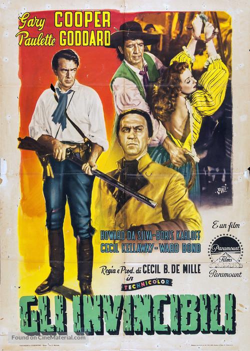 Unconquered - Italian Movie Poster
