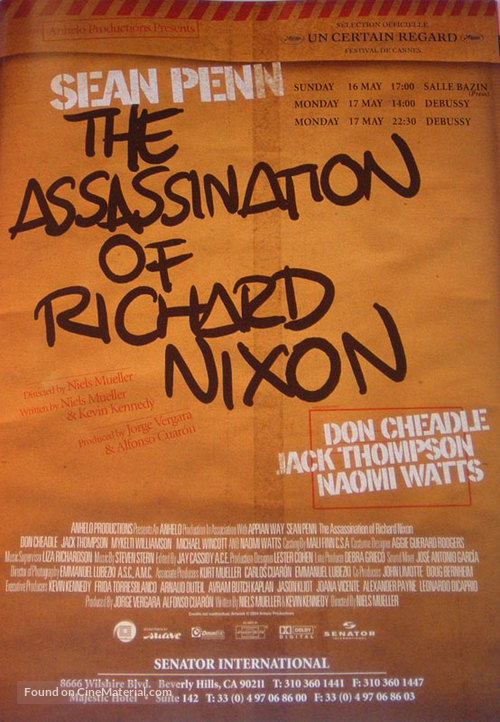 The Assassination of Richard Nixon - Theatrical movie poster