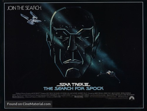 Star Trek: The Search For Spock - British Movie Poster