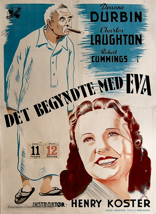 It Started with Eve - Danish Movie Poster