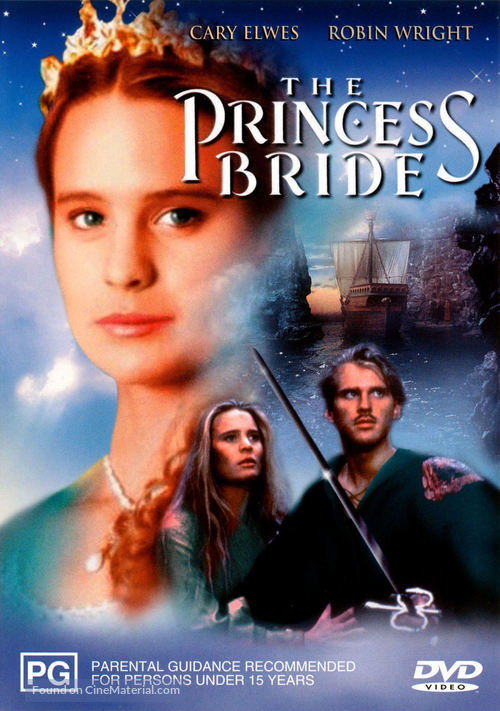 The Princess Bride - Australian DVD movie cover