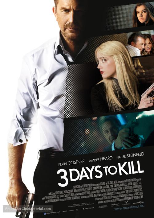 3 Days to Kill - German Movie Poster