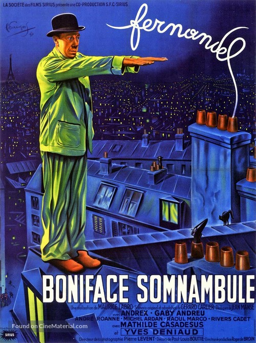 Boniface somnambule - French Movie Poster