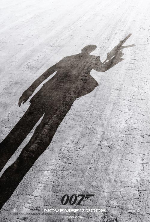 Quantum of Solace - British Movie Poster