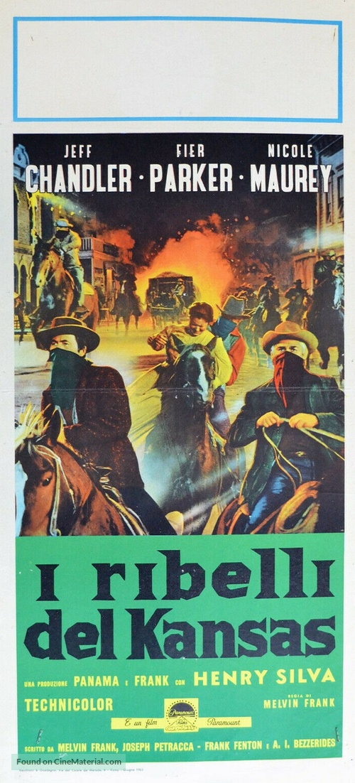 The Jayhawkers! - Italian Movie Poster