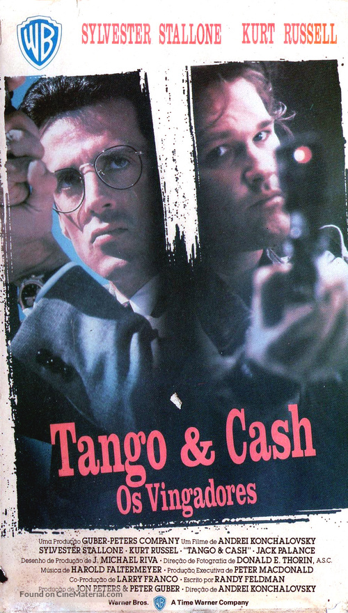Tango And Cash - Brazilian VHS movie cover