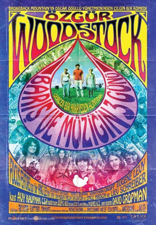 Taking Woodstock - Turkish Movie Poster