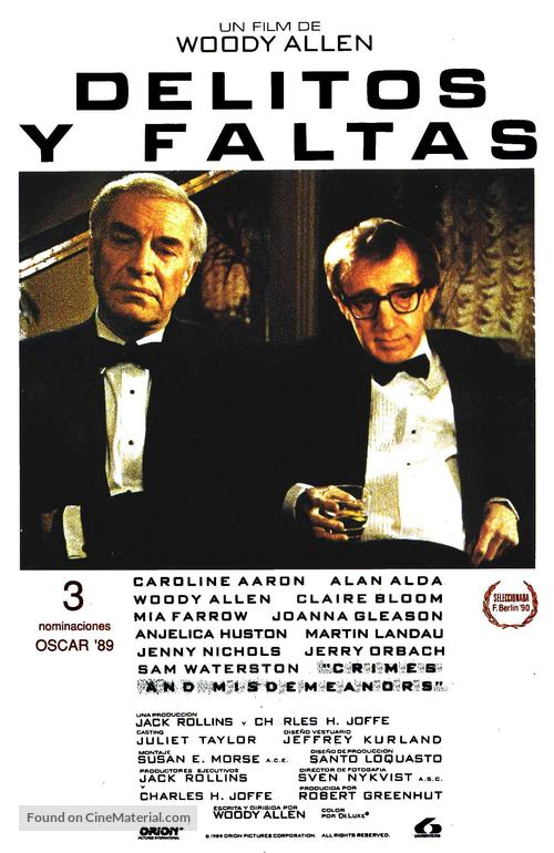Crimes and Misdemeanors - Spanish Movie Poster