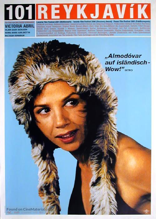 101 Reykjavík - German Movie Poster