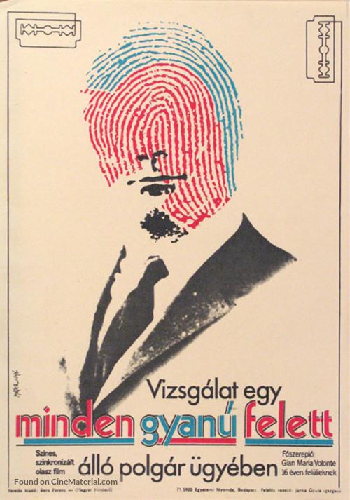 Indagine su un cittadino al di sopra di ogni sospetto - Hungarian Movie Poster