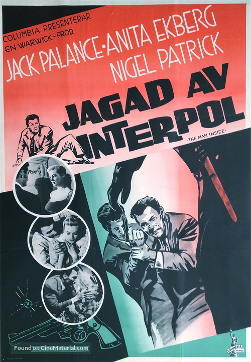 The Man Inside - Swedish Movie Poster