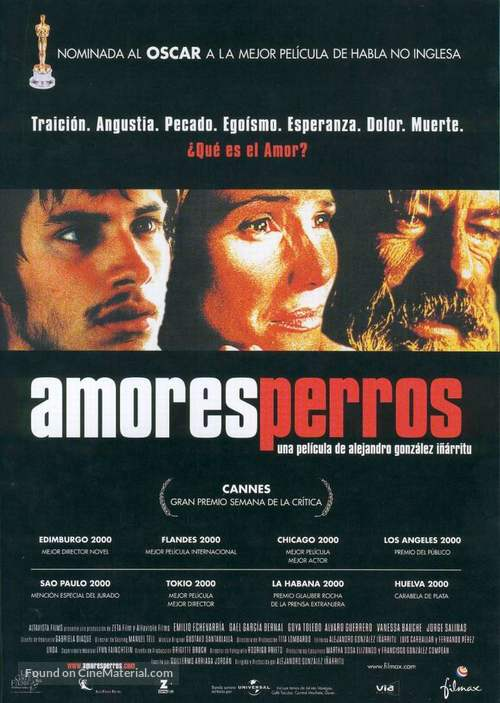 Amores Perros - Spanish Movie Poster