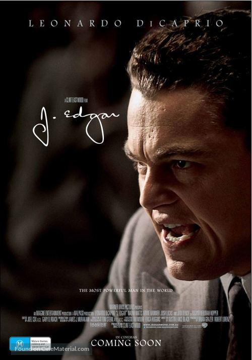 J. Edgar - Australian Movie Poster