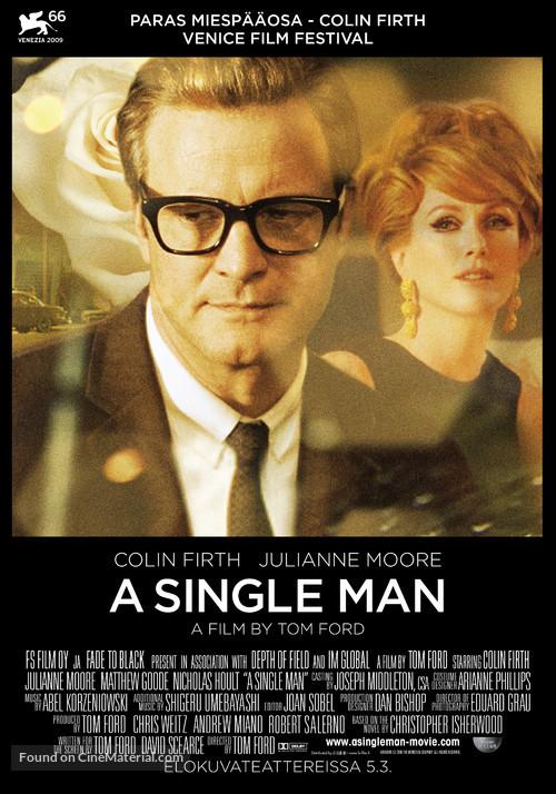 A Single Man - Finnish Movie Poster