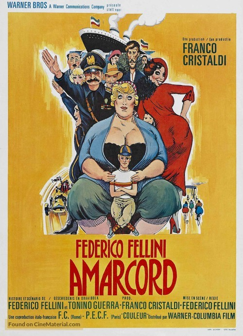 Amarcord - Belgian Movie Poster