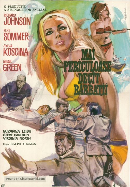 Deadlier Than the Male - Romanian Movie Poster