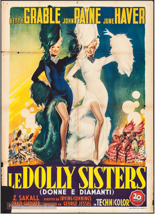 The Dolly Sisters - Italian Movie Poster