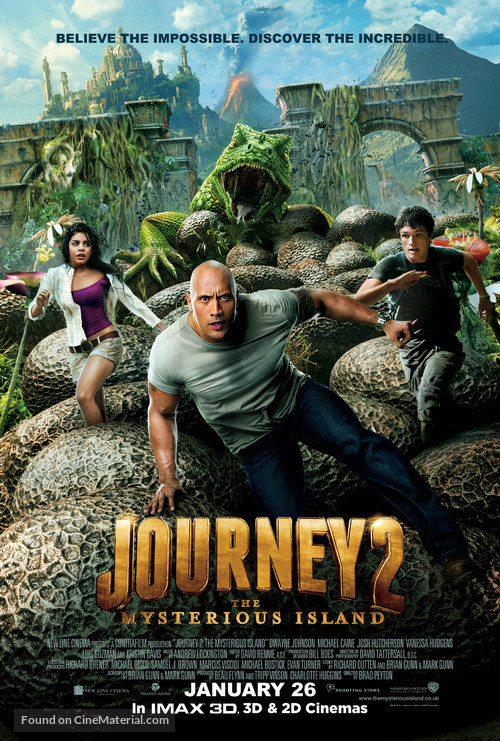 Journey 2: The Mysterious Island - British Movie Poster